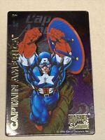 Marvel Comics Magnet 1996 Italic Metallic NOS    Captain America