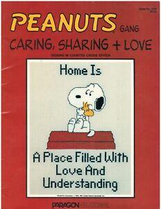 Vintage Peanuts Gang Caring, Sharing Paragon Needlecraft Cross Stitch Designs