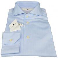 Camicia Pierre Balmain Uomo Men Shirt Button Down Regular  Azzurro