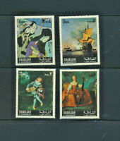 Famous Paintings - Famous Artists - Museums - Sharjah Mint NH Set of 4 Stamps