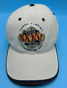 SUPERBOWL 2001 XXXV hat white adjustable cap