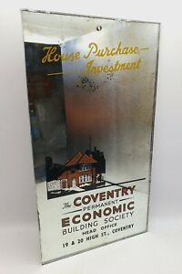 VINTAGE COVENTRY BUILDING SOCIETY ADVERTISING MIRROR