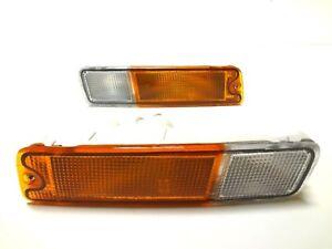 MITSUBISHI L200 1995-2001 front bumper turn signal lights indicator blinker pair