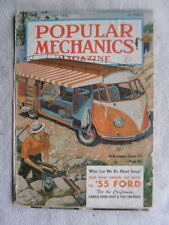 Volkswagen Campa Car Camping rare Popular Mechanics Magazine July 1955 clippings