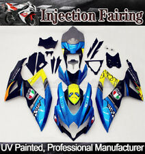 For Suzuki GSXR600 GSXR750 2008-2010 2009 K8 Blue Shark Fairing Kit ABS Bodywork