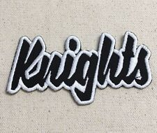 Knights Black/White - Team Mascot/Names(Iron On Embroidered Applique Patch)