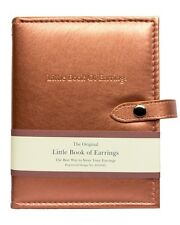 Large Little Book Of Earrings Rose Gold 4 Page Jewellery Storage Box Book Gift
