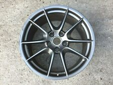 "1 x Porsche Boxster Cayman 981 20"" Carrera S GREY REAR GENUINE OEM Alloy Wheel"