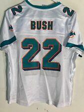 Reebok Women's NFL Jersey Miami Dolphins Reggie Bush White sz L