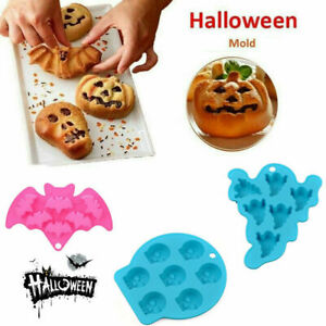 Halloween Ghost Christmas Silicone Mould Chocolate Ice Cube Tray Cake Bake Mold