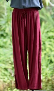 ZenLife Womens Comfy Casual Bliss Pants - Burgundy