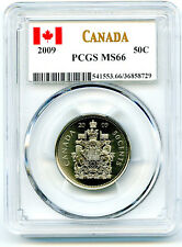 2009 CANADA 50 CENT HALF DOLLAR PCGS MS66... HIGH GRADE...CANADA LABEL