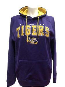 LSU Tigers Mens Purple Colosseum Embroidered Playbook Hoodie Sweatshirt 2XL