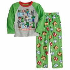 NWT Minecraft CHRISTMAS HOLIDAY Creeper Boy's Minecraft Pajamas Green 6 8 10 12