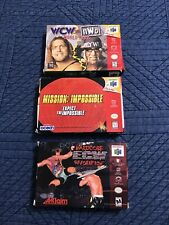 N64 games lot W/boxes Manuals WCW NWO Mission:Impossible Hardcore Nintendo