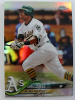 2018 Topps Chrome #67 Khris Davis Oakland Athletics A's Refractor Baseball Card