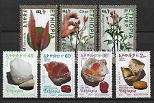Äthiopien 2 postfrische Sätze 2003, Drogen, Mineralien