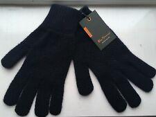 Genuine BEN SHERMAN Navy 100% Wool Ribbed Cuff Gloves - Made in Scotland - BNWT