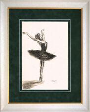 Edgar Degas - old handmade sketch + watercolor - BEST ART !!!