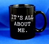 All About Me Coffee Mug Black 2003 Funny Xmas Office Gift Idea Stocking Stuffer