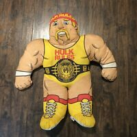 Vintage 1990 Hulk Hogan WWF Wrestling Buddies Stuffed Pillow Toy by Tonka 24""
