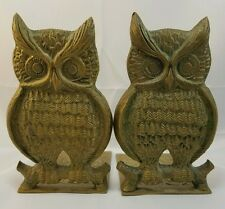 Rosenthal Netter Brass Owl Bookends Set 2 Vintage Owls Handcrafted In Korea