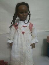 "Annette Himstedt Barefoot Series Fatou Black Girl Doll 24"" w Box"