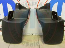JEEP WRANGLER Set Of 2 Rear Molded Splash Guards NEW OEM MOPAR