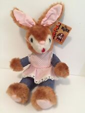 """Russ Luv Pets Bunny Rabbit Brown Cream Mini Bean Bag Toy 15"""" w/Tag 1979 Easter"""