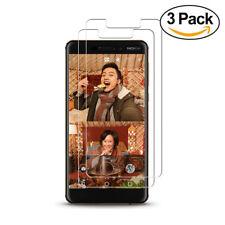 Nokia 6 (2018) - 3x Displayfolie Panzerglas Folie 9H Härtegrad Schutzglas Folie