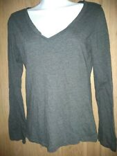 Ambiance Apparel gray Long Sleeve Top Xl