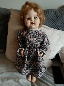 "Vintage 1950s Hard Plastic Pedigree Walking Doll 21"" VGC"