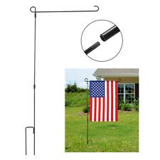 37''x17''Garden Flag Iron Pole Outdoor Yard Flags Stand Holder Banner Bracket US