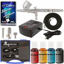 Cake Decorating System. With Airbrush, Compressor, FREE Storage Case & 4 Color