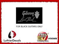 Gibson Les Paul Model Guitar Decal Headstock Restoration Waterslide Logo 90wb
