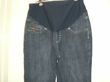 Next Maternity Bootcut Comfy Waist Blue Jeans 8 Short