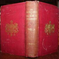 1844 Dispatches India Field Marshall Duke of Wellington Volume 1 General Gurwood