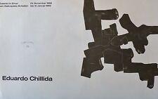 EDUARDO CHILLIDA HAND SIGNED POSTER FOR GALERIE IM ERKER 1969 ART EXHIBITION