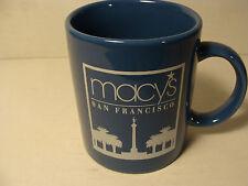 MACY'S DEPARTMENT STORE - SAN FRANCISCO, CALIFORNIA - BLUE COFFEE MUG