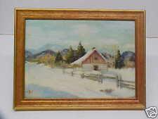 Canadian Vital Jette Winter Landscape Painting