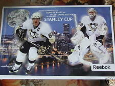 2009 PITTSBURGH PENGUINS STANLEY CUP CHAMPIONS POSTER SIDNEY CROSBY FLEURY RARE