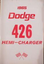 1965 Dodge 426 Hemi-Charger Manual 65