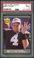 Brett Favre Rookie Card 1991 Ultra Update #U-1 PSA 9