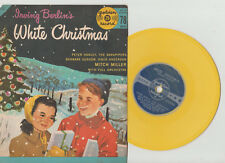 """1960s WHITE CHRISTMAS 6"""" YELLOW VINYL 78rpm & PICTURE SLEEVE-GOLDEN RECORD #103"""