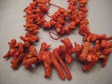 Red Coral Rough Graduated Branches Beads 116pcs