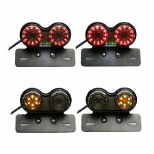 12V Motorcycle 36 LED Dual Tail Turn Signal Brake License Plate Integrated Light