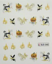 Accessoire ongles : nail art- Stickers Halloween : citrouille, bougie, spectre