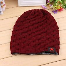 Mens Fashion Knit Baggy Beanie Oversize Winter Warmer Hat Ski Slouchy Chic Cap