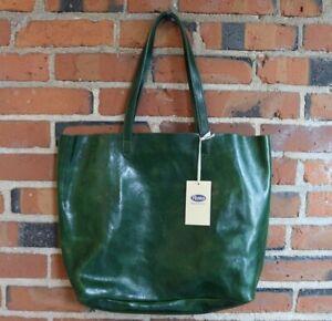 Floto Leather Piazza Tote Bag Shoulder Bag Handbag Purse Women's Green (N5591GR)