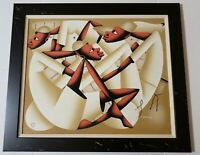 Laurent Casimir 1928-1990 Contemporary Haitian Painting Signed /Framed